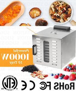 Commercial Dehydrator 1000w 10 Tray Steel Food & Jerky & Fru