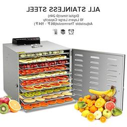 commercial stainless steel food dehydrator