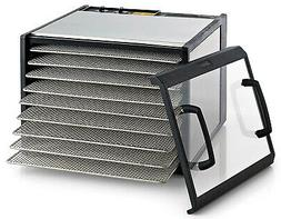 Excalibur D900CDSHD Stainless Steel Clear Door 9 Tray Food D