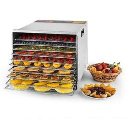 Deluxe 1200W 10-Tray Commercial Food Dehydrator Durable Frui