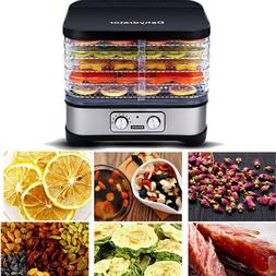 Electric 110V 5 Trays Food Dehydrator Machine with Temperatu