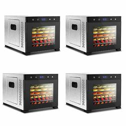NutriChef Electric 600W Countertop Food Dehydrator with 6 Tr