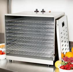 Electric Commercial Stainless Food Jerky Fruit Dehydrator Dr