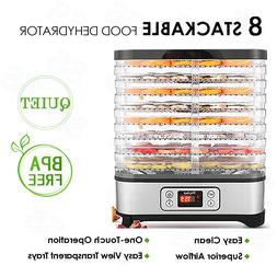 electric food dehydrator machine 8 trays 400w