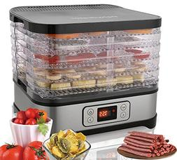 Electric Food Dehydrator Machine 250W - BPA Free Drying Syst
