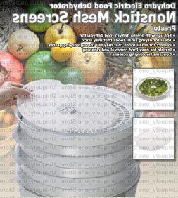 Electric Small Food Dehydrator Nonstick Mesh Screens For Rem