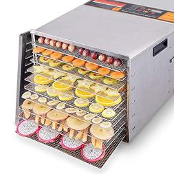 Costzon Professional Food Dehydrator, 1000W Commercial Stain