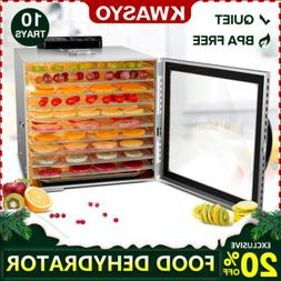KWASYO Food Dehydrator - 10 Tray Stainless Steel - 165° F J