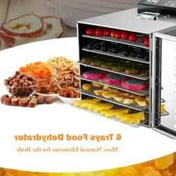 Food Dehydrator 5/6Tier Stainless Steel Fruit Jerky Meat Dry