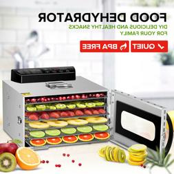 food dehydrator 6 tray stainless steel fruit