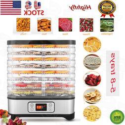 Food Dehydrator 7/8Tier Stainless Steel Fruit Jerky B Dryer