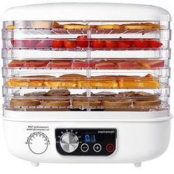 Food Dehydrator, HOMEMAXS Food Dehydrator Machine with LED D