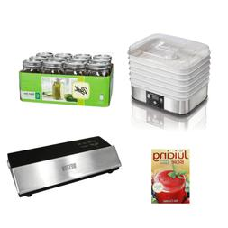 Hamilton Beach Food Dehydrator, Jars , Recipe Book, Vacuum S