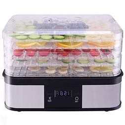 Costzon Food Dehydrator, Electric 5-Tire Fruit Vegetable Dry