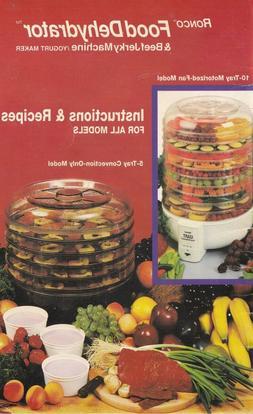 Ronco Food Dehydrator & Beef Jerky Machine Instructions PDF