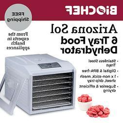 Best Food Dehydrator BioChef Arizona Sol 6 Trays Beef Jerky,