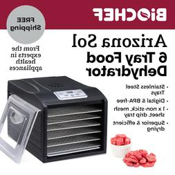Food Dehydrator BioChef Arizona Sol 6 Trays with Digital Dis