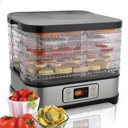 Food Dehydrator Digital 5 Tray Machine Dryer Automatic Shut