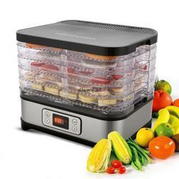Food Dehydrator Fruit Dryer Machine Meat Maker Electric 5 Ti