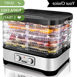 Best Food Dehydrator Machine With 5 Trays Temperature Contro