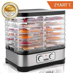 Food Dehydrator Machine, Jerky Dehydrators with 7-Tray, Knob