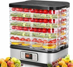 Homdox Food Dehydrator Machine Digital Timer Temperature 8 T