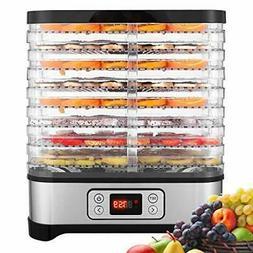 Food Dehydrator Machine, Fruit Dehydrators with 8-Tray, Digi