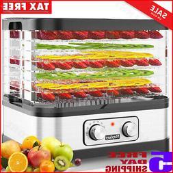 Food Dehydrator Machine Jerky with 7 Trays, Knob Button/250W
