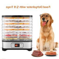 Food Dehydrator Machine w/ 5/8 Trays Digital Timer and Temp