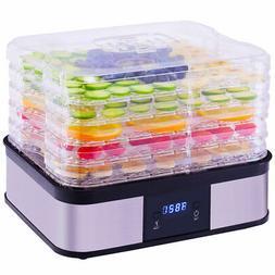 Food Dehydrator Preserver 5 Tray Fruit Vegetable Dryer Timer