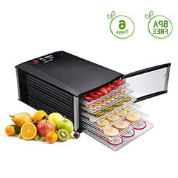 Food Dehydrator, Sancusto 6 Trays Professional Fruit Dryer M