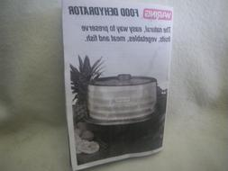 INSTRUCTIONS for WARING FOOD DEHYDRATOR ~ BEEF JERKY MAKER I