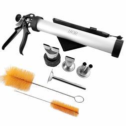 SIGVAL Jerky Gun, 4 Nozzles, 1.5lb Capacity Metal Jerky Make