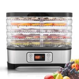 Kitchen 5 Stackable Tray 250W Food Dehydrator Machine Fruit