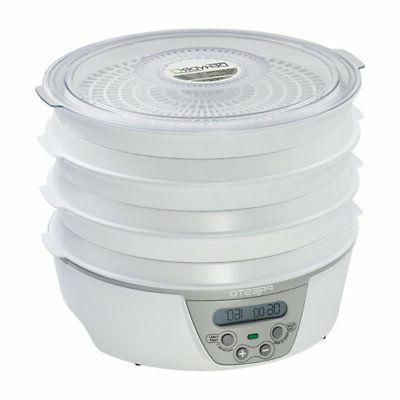 06301 dehydro digital electric food dehydrator white