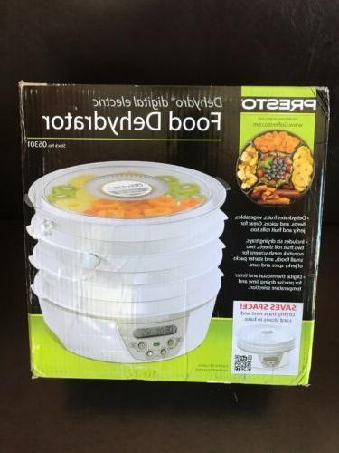 06301 digital electric food dehydrator white