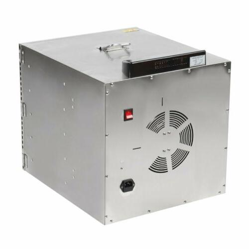 10 Tray Dehydrator Stainless Fruit Dryer Commercial