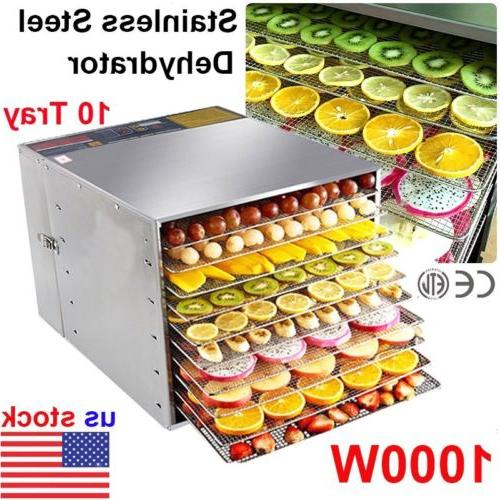 10 tray food dehydrator stainless steel fruit