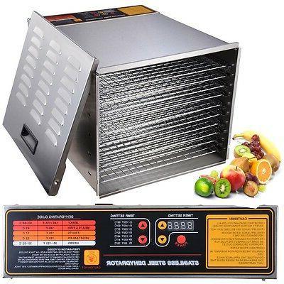 1200W 10 Tray Steel Food Digital