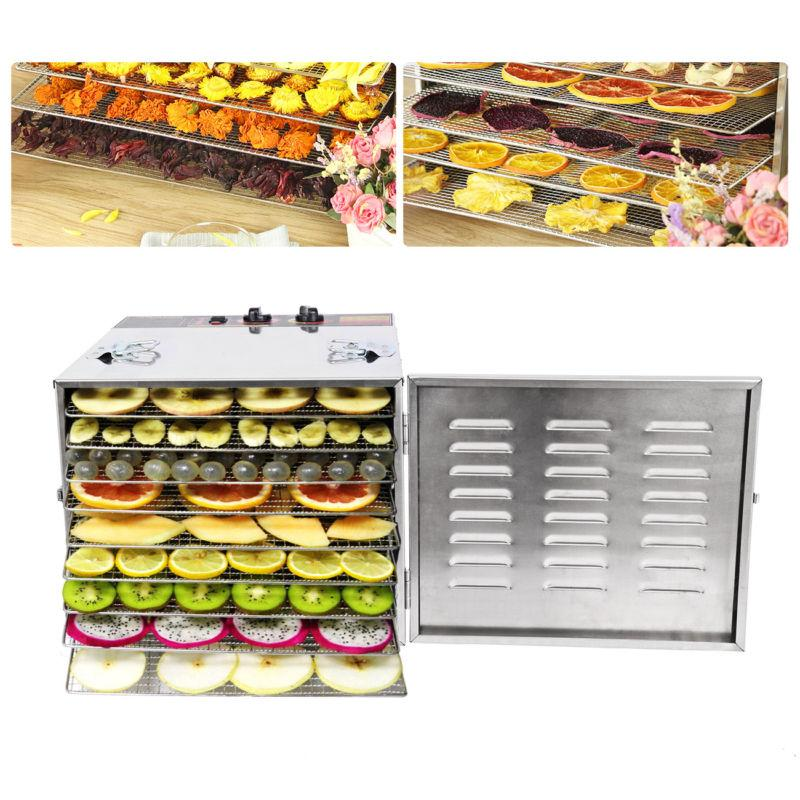 10 tray stainless steel commercial dehydrator food