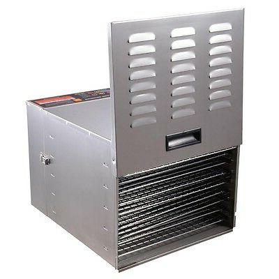 1200W 10 Stainless Steel Dehydrator Food Jerky Fruit Digital Timer