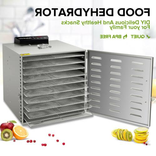 10 tray stainless steel food dehydrator jerky