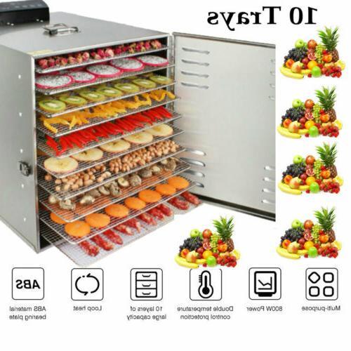 1000w 10tray food dehydrator stainless steel fruit