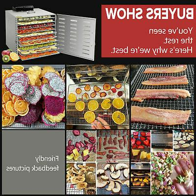 10Tray Stainless Steel Food Dehydrator Commercial Vegetable