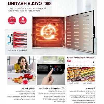 10Tray Stainless Dehydrator Vegetable Dryer