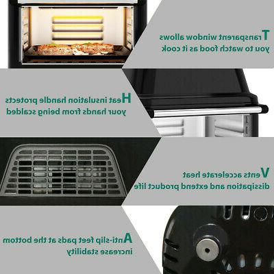 19 Fryer Oven 1800W Rotisserie 8 in 1