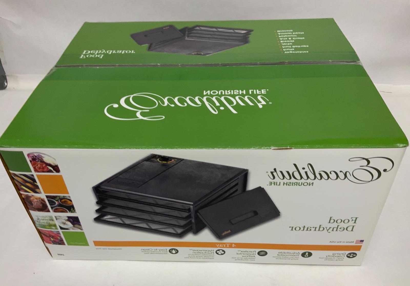2400 4 tray food dehydrator with adjustable