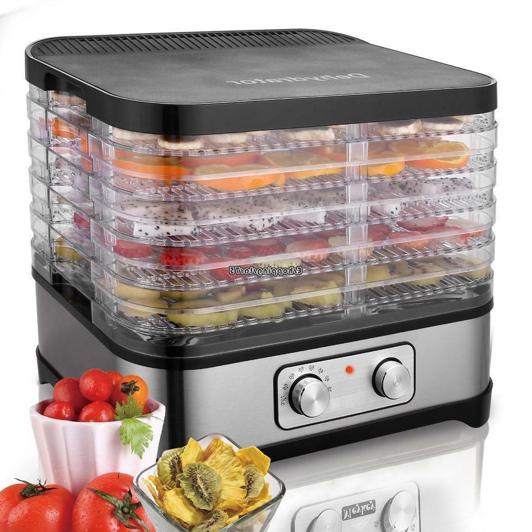 8 Tray Food Fruit Vegetable Dryer Dehydrator with Adjustable