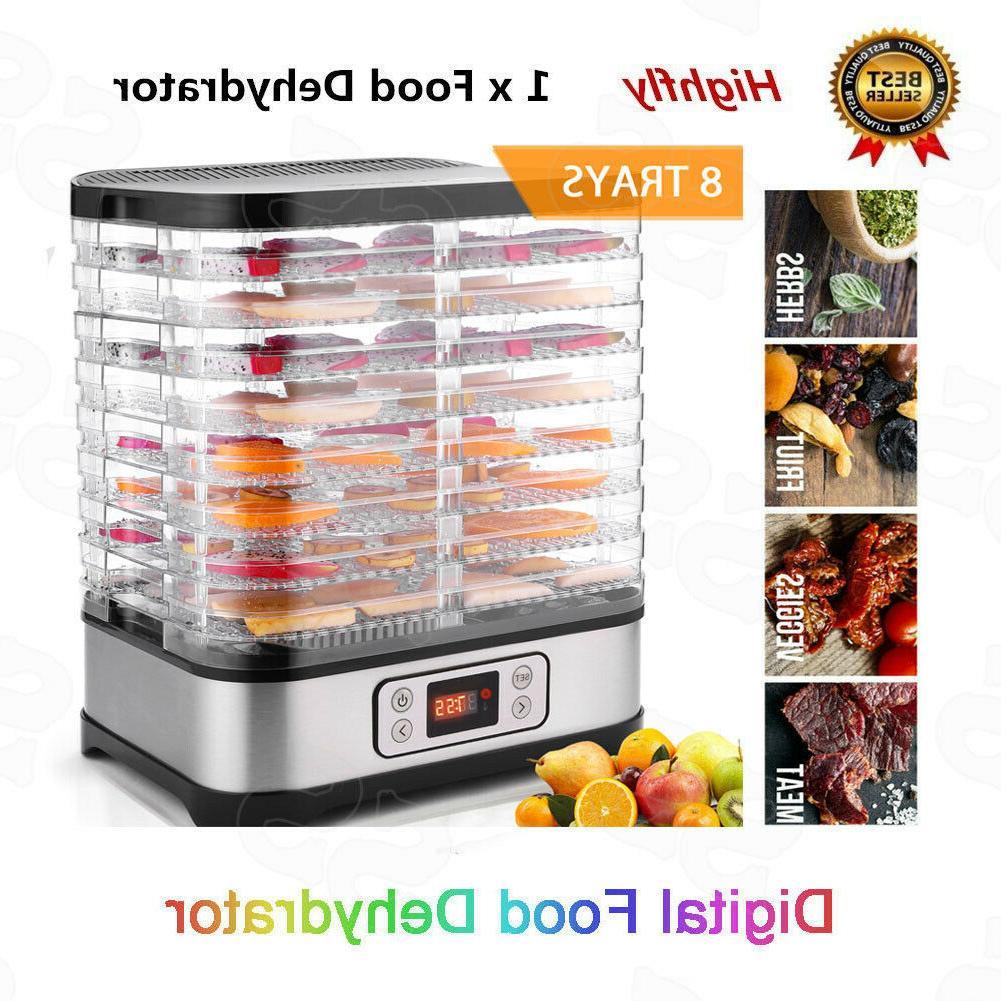 8 Tier Food Dehydrator Machine Professional Electric Fruit B