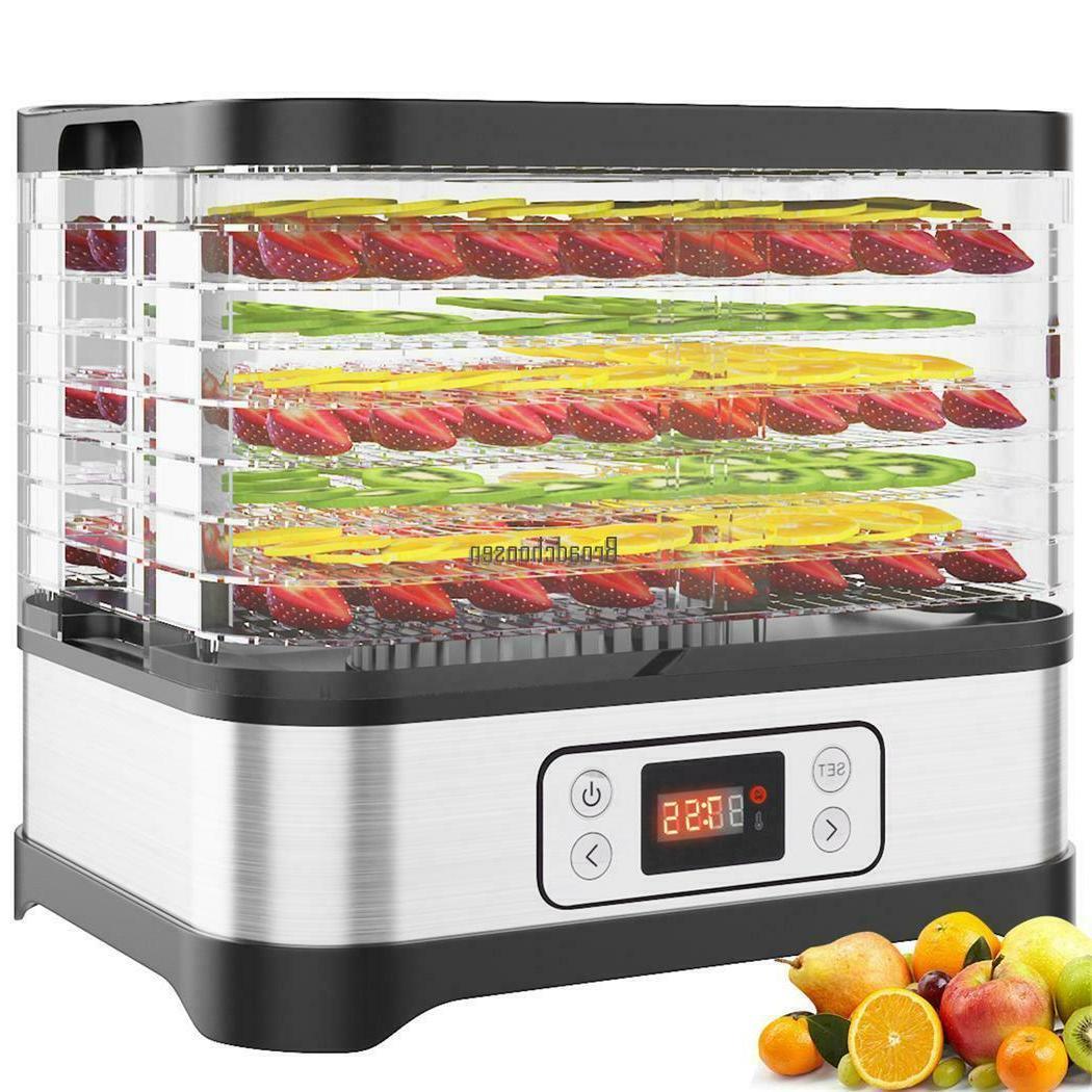 5-8 Food Dehydrator Fruit Dryer Jerky Preserver